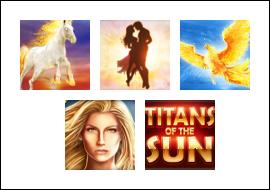 free Titans of the Sun - Theia slot game symbols