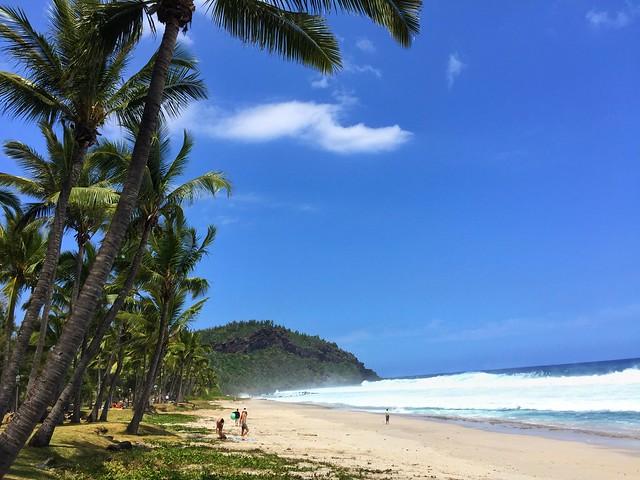 Playa de postal típica como las que se ven en las islas del Caribe