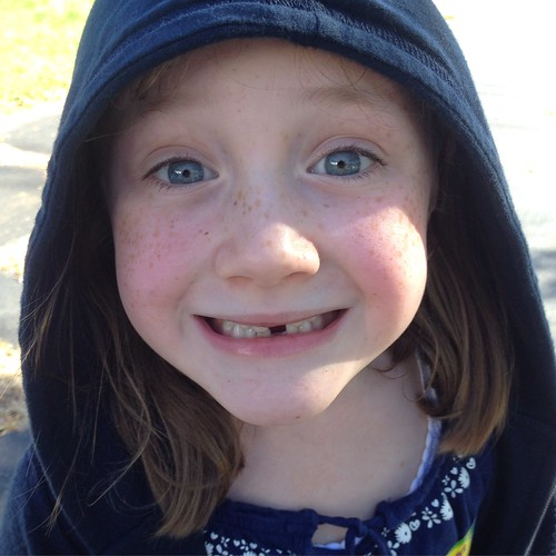 My #blueeyes girl let me take a better picture of her #toothless #smile. #loosetooth #toothfairy | by lisa_sff