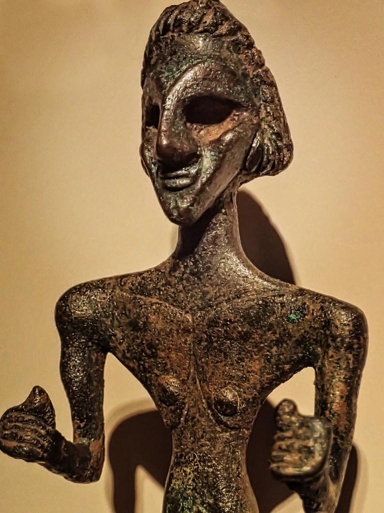 Cast bronze figurine of Baal, Canaanite war god Syria 2nd ... Baal Canaanite God