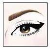 2. Delineado de un eyeliner gráfico