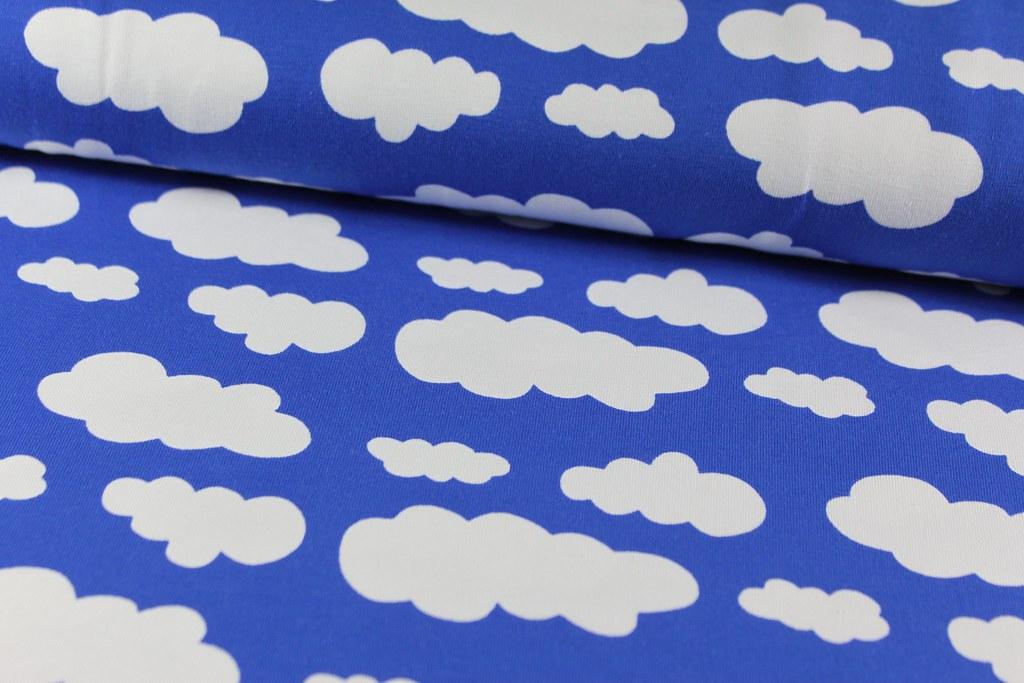 "Baumwoll-Jersey ""Sky"", blau-weiß"