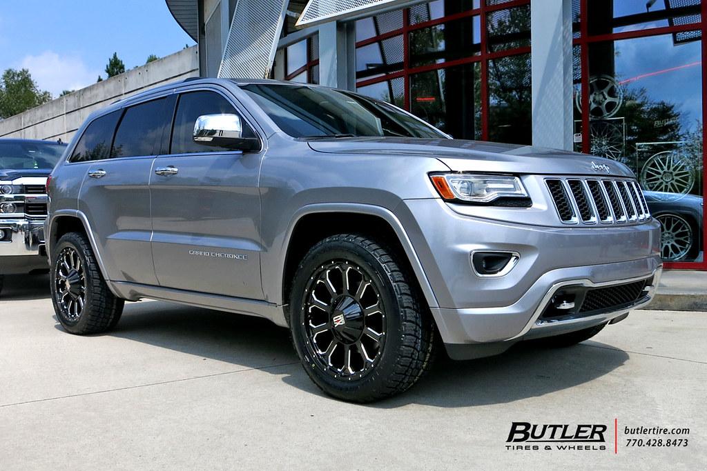 jeep grand cherokee   xd bomb wheels  nitto ter