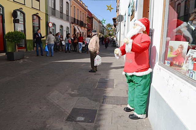 Quiet Christmas shopping, La Laguna, Tenerife