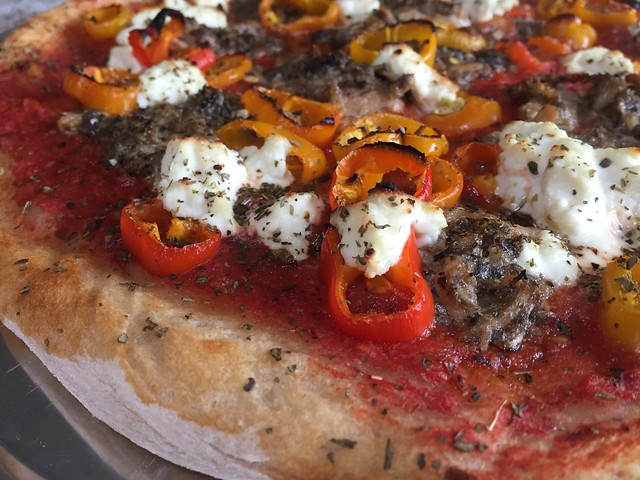 Sardine/Sweet Peppers Pizza