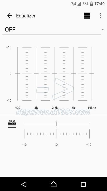 Sony | Music Center - EQ settings