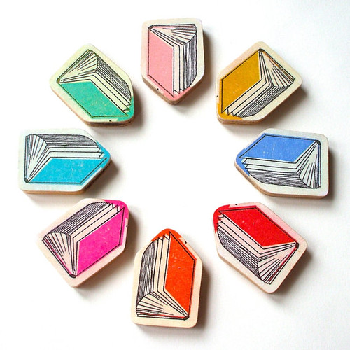 Paper Book Brooches by Lucie Ellen