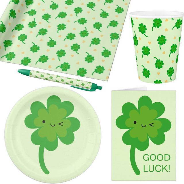 Lucky Clover at Zazzle