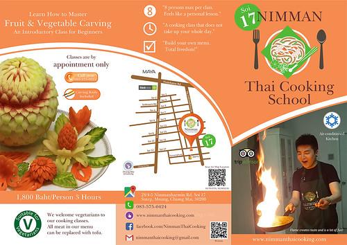 Brochure Nimman Thai Cooking School Chiang Mai Thailand 1