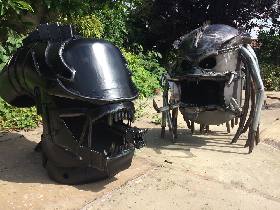 Wood burners & fire pits by Burned by Design - Alien vs Predator