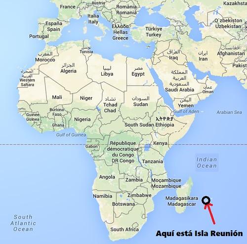 Mapa que indica dónd está Isla Reunión