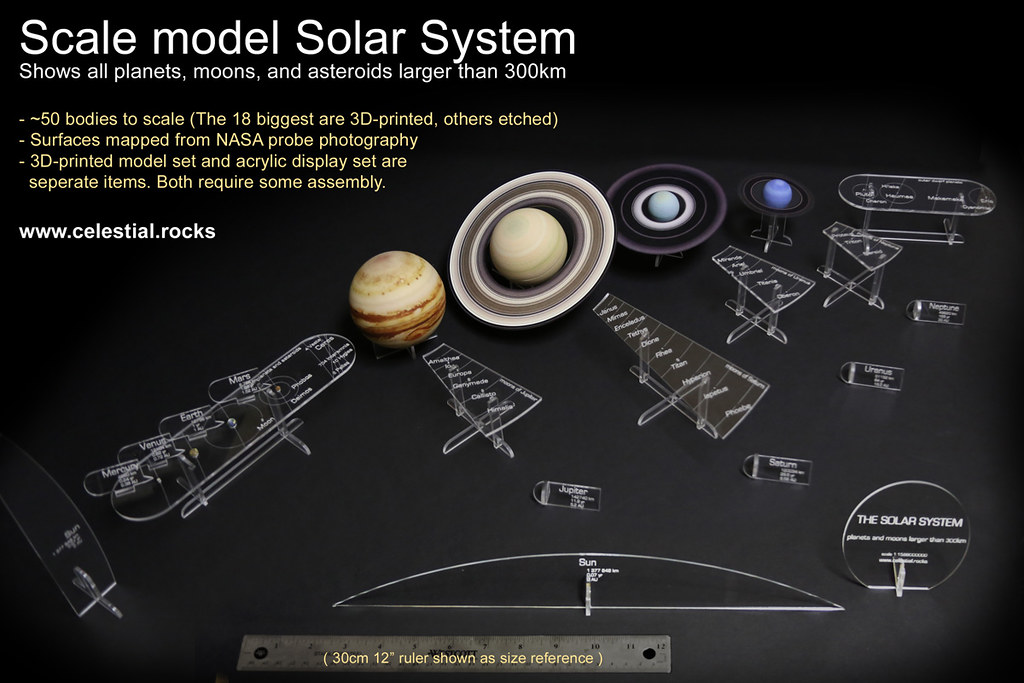 Scale Model Solar System Scale Model Of The Solar System Flickr - Solar system map 3d