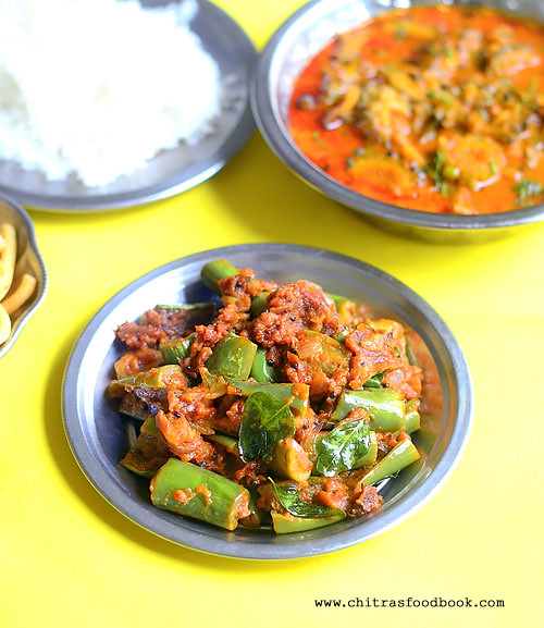 Brinjal Masala Poriyal Recipe