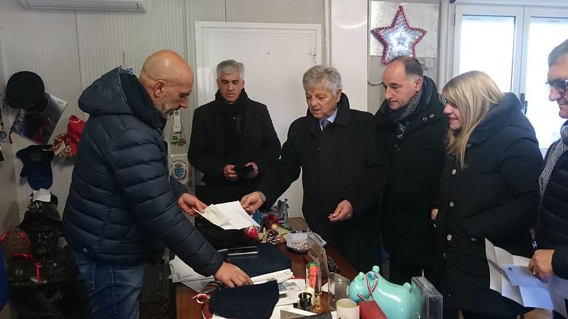 La delegazione Anci Lazio con il sindaco di Amatrice