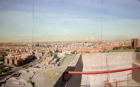 16l29 Antonio López Madrid desde la torre de bomberos de Vallecas Óleo sobre lienzo 250 x 406 cm Uti 485