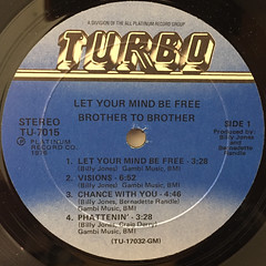 BROTHER TO BROTHER:LET YOUR MIND BE FREE(LABEL SIDE-A)