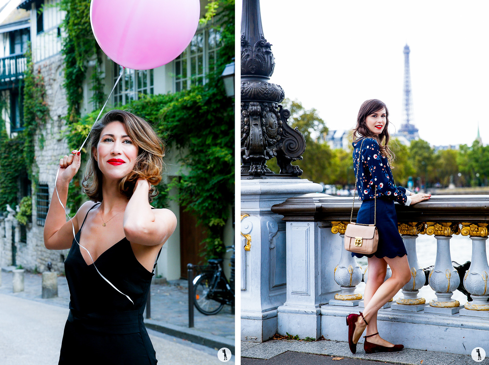 Beauty shooting for Bourjois in Paris. Street style. Daphne mode and the city. The Balloon Diary