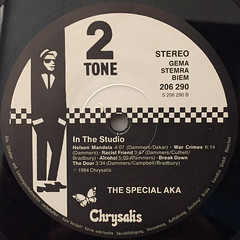 SPECIAL AKA:IN THE STUDIO(LABEL SIDE-B)