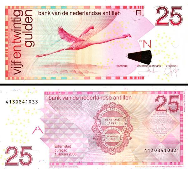 25 Guldenov Holandské Antily 2008, P29e