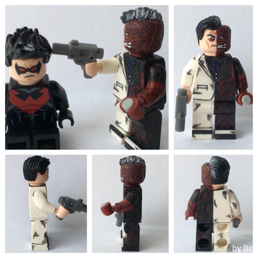 Lego Batman Arkham Knight: Two Face From Batman: Arkham Knight. Lego Custom.