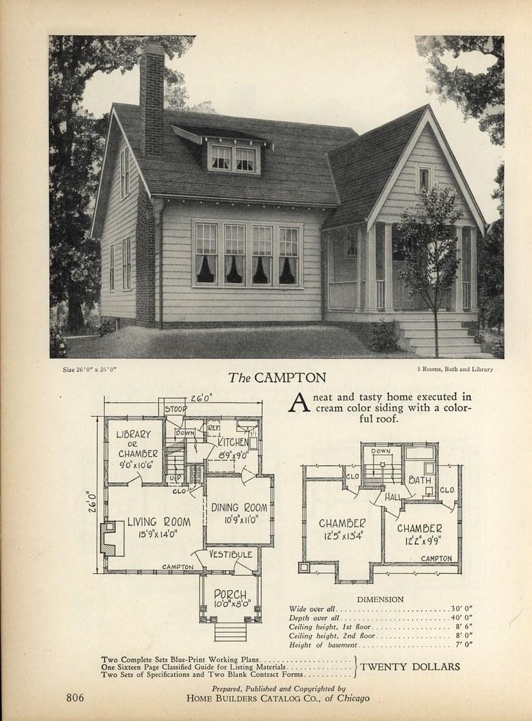 1928 Home Builders Catalog Campton