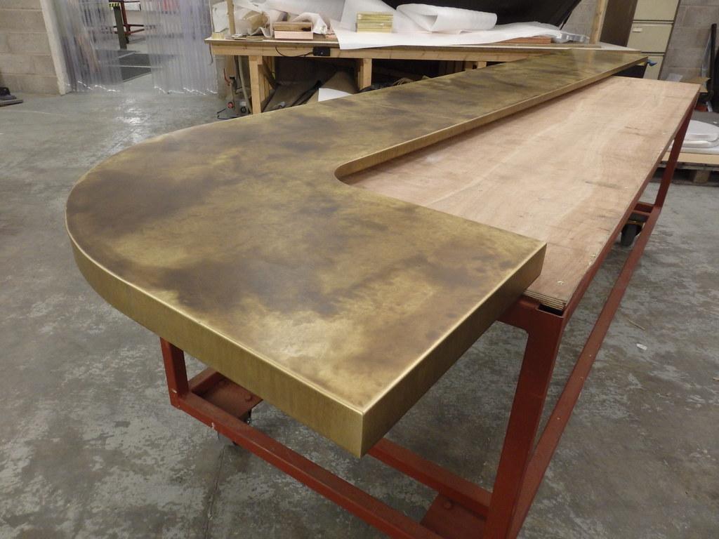 55 Hockey Stick Aged Brass Bar Top Olympus Digital