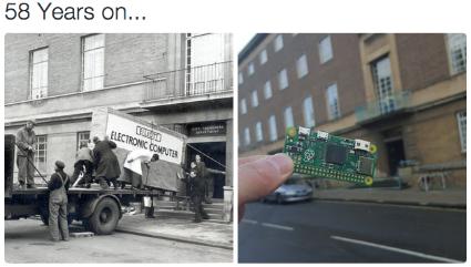 Comparison raspberry pi and old computer