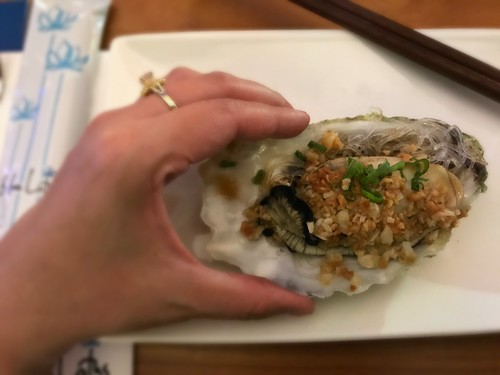 Steamed King Oyster with Garlic & Mung Bean Vermicelli - Blue Lotus CNY 2017