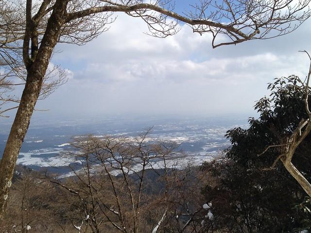 入道ヶ岳 二本松尾根 登山道からの眺望