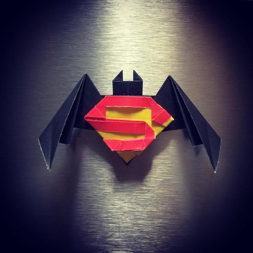 Batman V Superman John Montrolls Symbol And Batarang Together