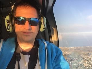 Sele en helicóptero en Isla Reunión