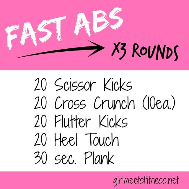 Fast Abs workout www.girlmeetsfitness.net