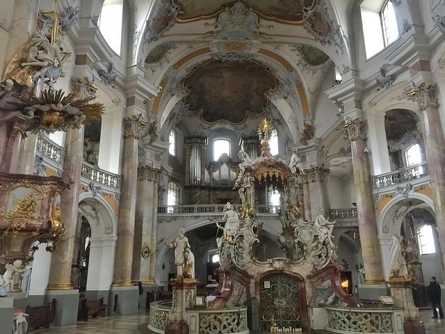 Basílica rococó de Vierzehnheiligen en Bad Staffelstein (Norte de Baviera, Alemania)