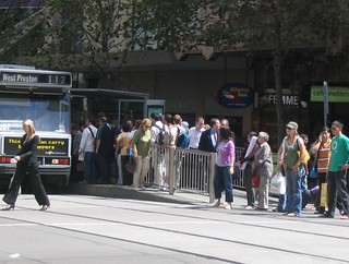 Collins Street/Town Hall tram stop (March 2007) | by Daniel Bowen
