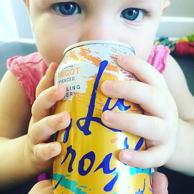 I drank two a day while pregnant with her. It's no wonder Remy is a @lacroixwater addict like her mama.