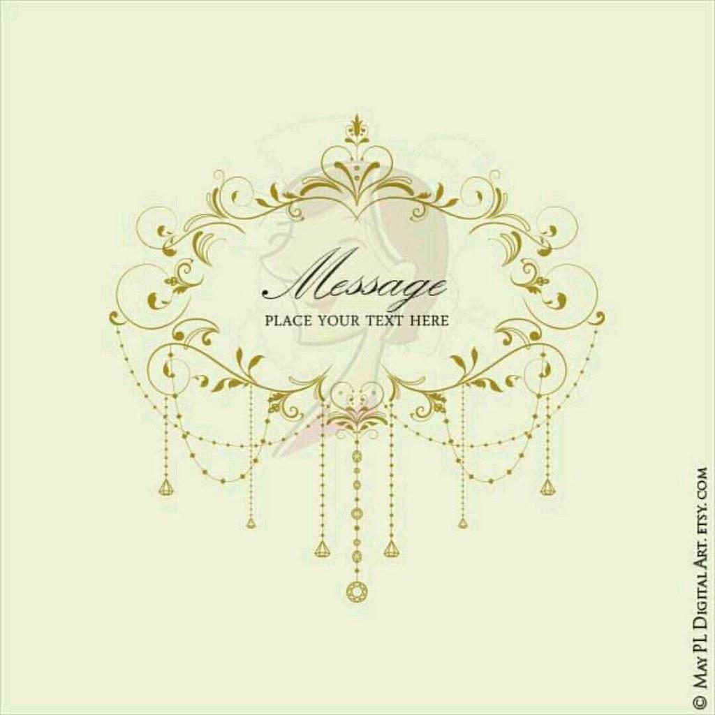 This popular elegant flourish chandelier frame digital cli…   Flickr