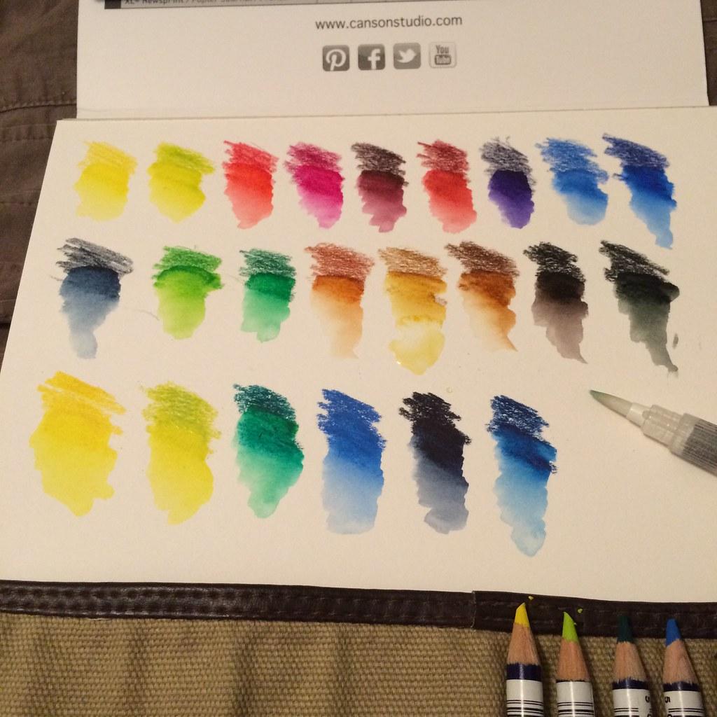 Derwent Inktense Color Chart Blog Entry Alberto Flickr