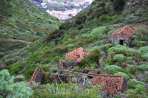 Abandoned cottages above Los Silos, Tenerife
