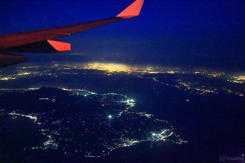 Back to Fukuoka over Nagasaki and Kumamoto pref.