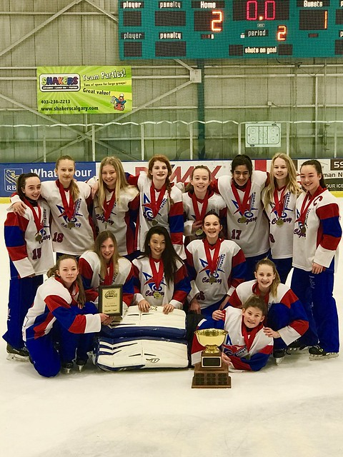 Jan 15, 2017 - EGRT Calg - U14AA White wins Gold