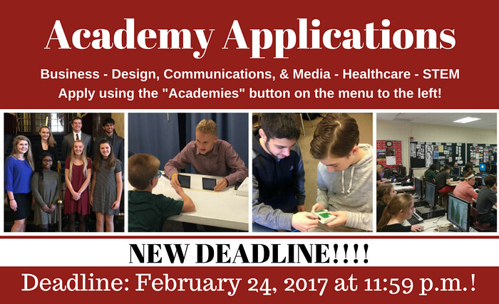Academy Applications Due February 24 at 11:59 p.m.