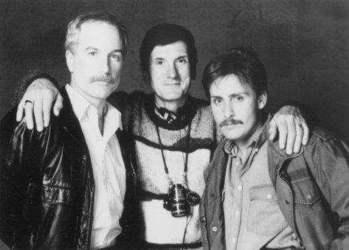 Stakeout - backstage - Richard Dreyfuss, John Badham, Emilio Estevez