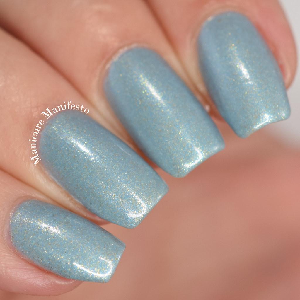 Blue zoya shimmer