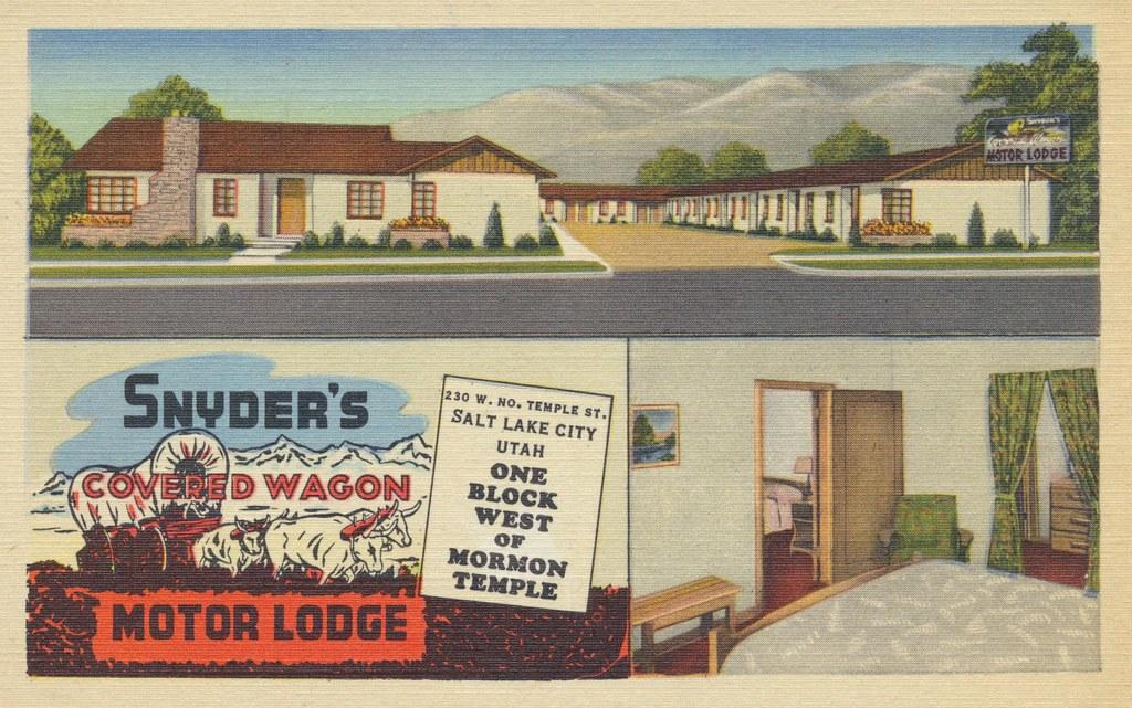 Snyder's Covered Wagon Motor Lodge - Salt Lake City, Utah