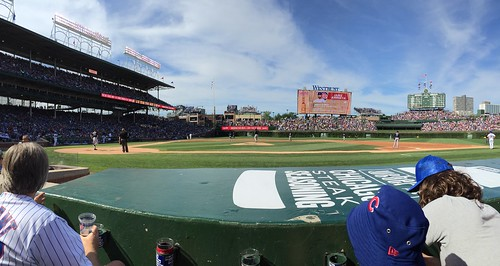 View from the Visitor's Dugout at Wrigley
