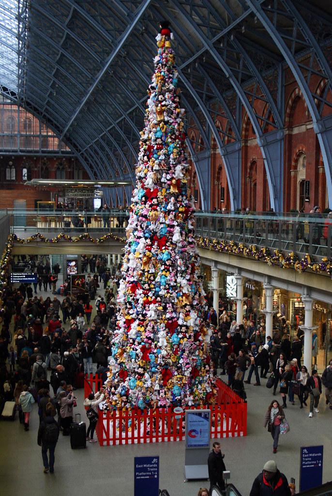 disney christmas tree st pancras station london 2015 by anorakin - Disney Christmas 2015
