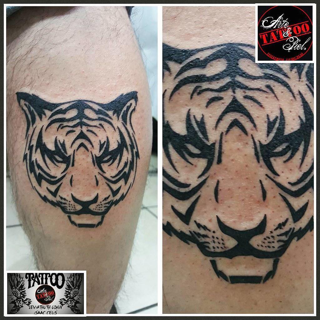 Tigre Tiger Tribal Pierna Tattooarteypiel Tatuajes Flickr