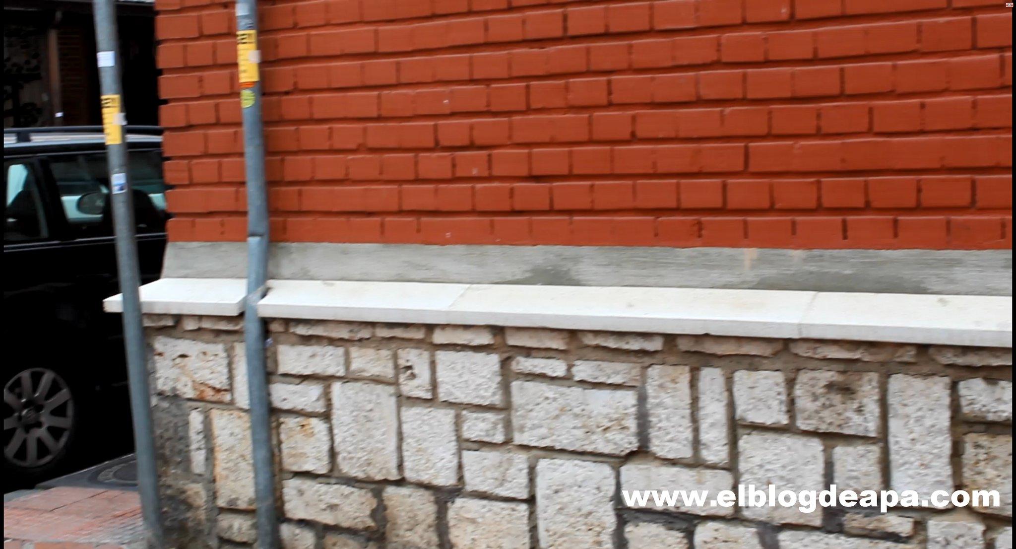 Reparación erosión fachada