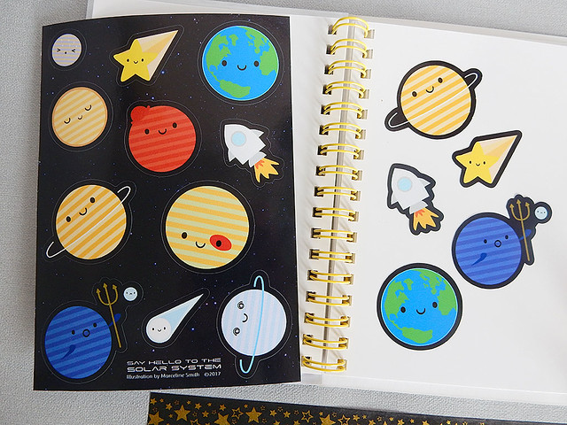 Solar System sticker sheet