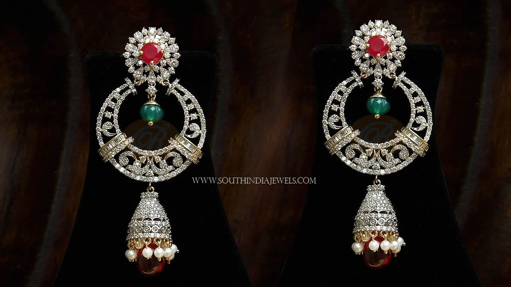 com pics the radhika diamond jhumka earrings detachable bluestone